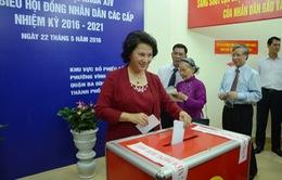 Chủ tịch Quốc hội Nguyễn Thị Kim Ngân bầu cử tại quận Ba Đình