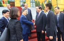 Chủ tịch nước Trần Đại Quang tiếp Thống đốc tỉnh Aichi, Nhật Bản