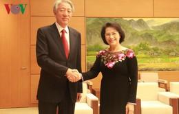Chủ tịch Quốc hội Nguyễn Thị Kim Ngân tiếp Phó Thủ tướng Singapore