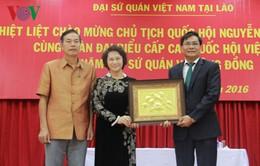 Chủ tịch Quốc hội thăm Đại sứ quán Việt Nam tại Lào