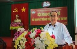 Chủ tịch UBTW MTTQVN làm việc với lãnh đạo tỉnh Trà Vinh