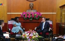 Đồng chí Nguyễn Thiện Nhân tiếp Phó Chủ tịch Ngân hàng Thế giới