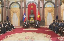 Chủ tịch nước Trương Tấn Sang tiếp Phó Thủ tướng Lào Somsavat Lengsavad