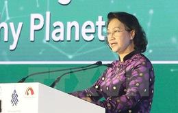 Chủ tịch Quốc hội đồng chủ trì phiên họp Đoàn kết bảo vệ một hành tinh lành mạnh