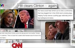 FBI không truy tố bà Hillary có làm thay đổi cục diện cuộc đua vào Nhà Trắng?