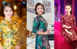 Huyền Trang, Minh Hà, Thanh Vân Hugo mê mẩn áo dài cách tân