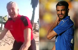 Fan cuồng Arsenal đuổi theo HLV Wenger để cầu xin mua Mahrez