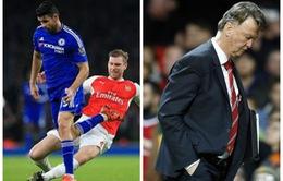 Điểm nhấn NHA vòng 23: Arsenal mất ngôi đầu, Van Gaal sắp ra đường