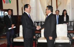 Chủ tịch nước tiếp Đại sứ Palestine
