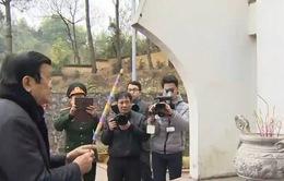 Chủ tịch nước dâng hương viếng các Anh hùng liệt sỹ tại tỉnh Cao Bằng
