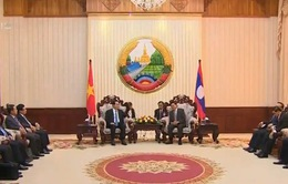 Chủ tịch nước Trần Đại Quang hội kiến Thủ tướng Lào