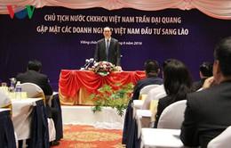 Chủ tịch nước gặp gỡ doanh nghiệp đầu tư tại Lào