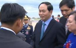 Chủ tịch nước Trần Đại Quang thăm cấp nhà nước Campuchia