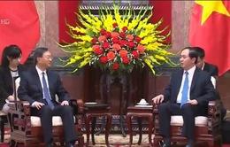 Chủ tịch nước tiếp Ủy viên Quốc vụ Trung Quốc