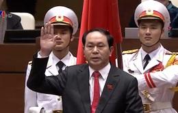 Lãnh đạo các nước chúc mừng Chủ tịch nước Trần Đại Quang