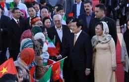 Chủ tịch nước bắt đầu chuyến thăm cấp Nhà nước tới Iran
