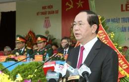 Chủ tịch nước dự lễ kỷ niệm 50 năm Học viện Kỹ thuật Quân sự