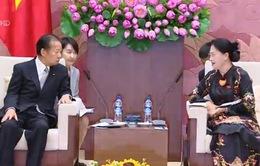 Chủ tịch Quốc hội tiếp Đoàn chủ tịch Liên minh Nghị sĩ Hữu nghị Nhật-Việt
