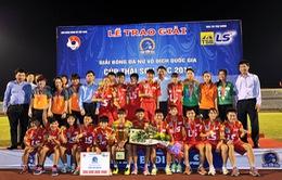 VTV tường thuật trực tiếp lượt đi Giải bóng đá nữ vô địch quốc gia 2016