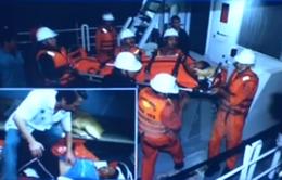 Cứu nạn ngư dân bị tai biến, liệt nửa người trên biển Hoàng Sa