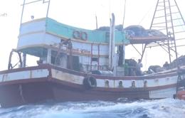 Cảnh sát biển cứu ngư dân bị gãy chân trên biển
