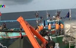 Cảnh sát biển cứu nạn thành công tàu cá đâm phải đá ngầm