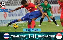 VIDEO: Singapore thua đáng tiếc ở phút chót, Thái Lan sớm giành vé vào BK