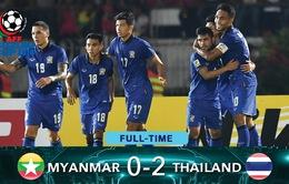 VIDEO: Dangda lập cú đúp, ĐT Thái Lan thắng dễ trên sân Myanmar