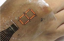 Da điện tử giúp đo nồng độ oxy có trong máu