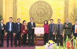 Đại tướng Trần Đại Quang chúc Tết Đảng bộ, nhân dân tỉnh Ninh Bình