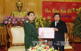 Đại tướng Ngô Xuân Lịch thăm và chúc Tết tỉnh Hà Nam