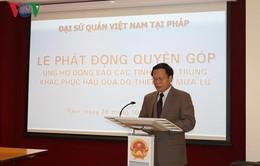 Đại sứ quán Việt Nam tại Pháp quyên góp hơn 1.900 Euro cho miền Trung