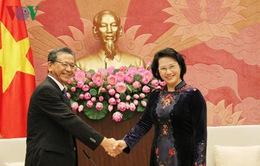 Chủ tịch Quốc hội tiếp các Đại sứ Nhật Bản, Nga và Cuba