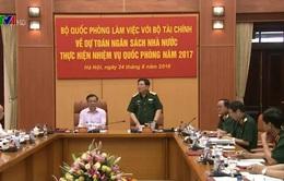 Hội nghị về dự toán ngân sách Nhà nước thực hiện nhiệm vụ quốc phòng