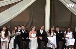Độc đáo đám cưới tập thể trong nhà tù tại Colombia