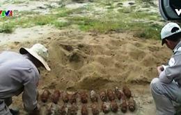 Quảng Trị: Phát hiện hầm chứa 21 quả đạn pháo tại nhà dân