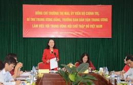 Đồng chí Trương Thị Mai làm việc với Trung ương Hội Chữ Thập đỏ Việt Nam