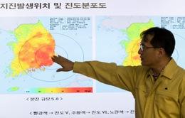Động đất kép làm rung chuyển phía Nam Hàn Quốc