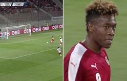 Ngỡ ngàng với pha phản lưới của sao Bayern khi trở về ĐT Áo