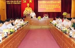 Kiểm tra công tác bầu cử tại Phú Thọ và Vĩnh Phúc