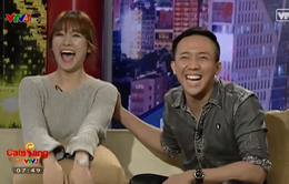 Hari Won cười thả ga khi bị bạn trai Trấn Thành hỏi tới tấp