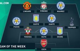 ĐHTB vòng 25 Ngoại hạng Anh: Tuần của sao Leicester