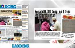 Điểm báo sáng 31/3: Bỏ ra 500.000 đồng, có 1 triệu thông tin cá nhân