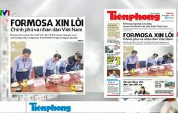 Điểm báo sáng 27/4: Formosa xin lỗi Chính phủ và nhân dân Việt Nam