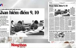 Thi THPT Quốc gia: Điểm 9 - 10 khan hiếm