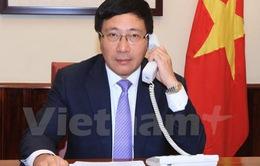Bộ trưởng Ngoại giao Việt Nam - Hoa Kỳ điện đàm về Biển Đông