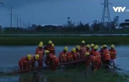 Nhanh chóng khắc phục sự cố điện tại nhiều địa phương sau bão số 1