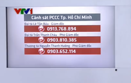 TP.HCM công bố số điện thoại Ban Giám đốc PCCC trong dịp Tết