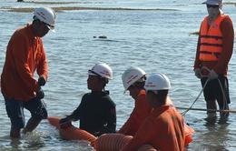 Khẩn trương thi công cáp ngầm ra Cù Lao Chàm