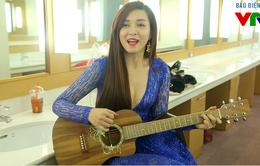 Đinh Hương khoe giọng hát live cực ngọt trong hậu trường